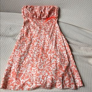 Halter print summer cotton dress